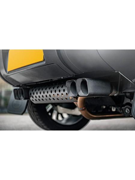 Глушитель Kahn с насадками (для бензиновой версии) (ECLD2DSSCB-1) для Land Rover Defender 2