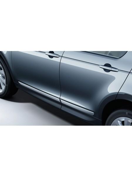 Комплект текстурных защитных накладок на двери с отделкой Bright для Land Rover Discovery Sport 2020 -