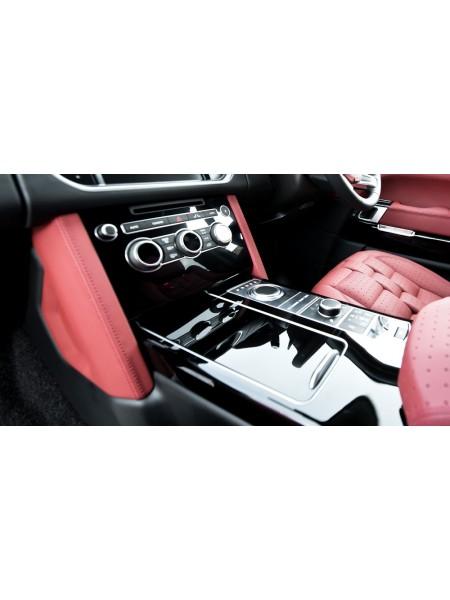 Отделка центральной консоли в коже или алькантаре от Kahn Design для Range Rover 2013