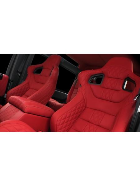 Перетяжка пары спортивных сидений GTB от Kahn Design для Land Rover Defender 2007