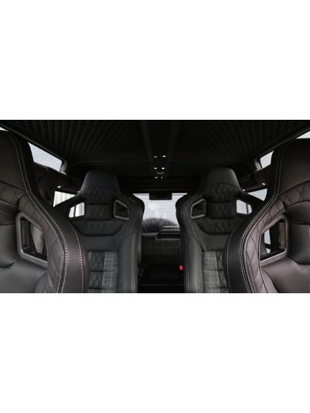 Спортивные сиденья GTB (передние, средние и задние) от Kahn Design для Land Rover Defender 110