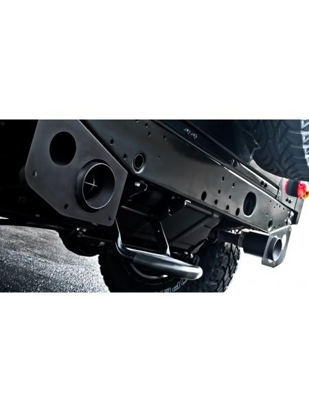 Выхлопная система Crosshair от Kahn Design для Land Rover Defender 110