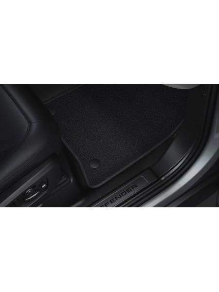 Комплект велюровых ковров салона 110 Ebony Black для Land Rover Defender 2020