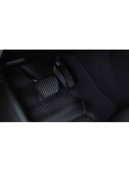 Резиновые коврики с высокими бортами 110, c 2-ух местными сиденьем 3-го ряда для Land Rover Defender 2020