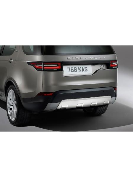 Накладка на задний бампер для Land Rover Discovery 5 2017 (нержавеющая сталь)