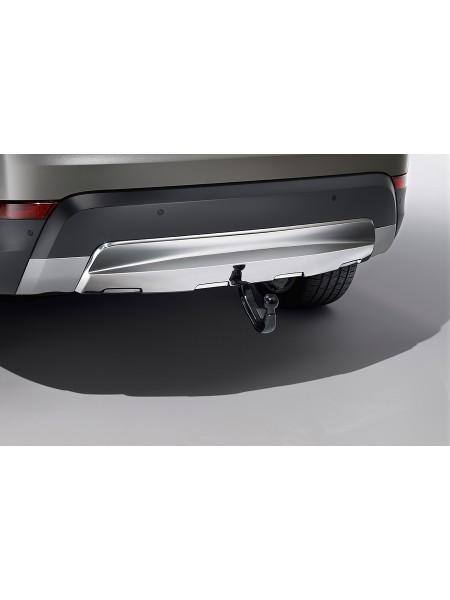 Накладка на задний бампер для Land Rover Discovery 5 2017 (нержавеющая сталь под фаркоп)