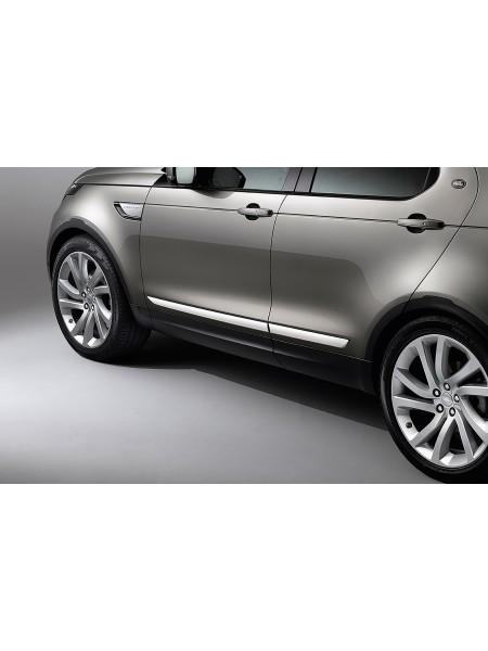 Боковые молдинги двери Bright для Land Rover Discovery 5 2017