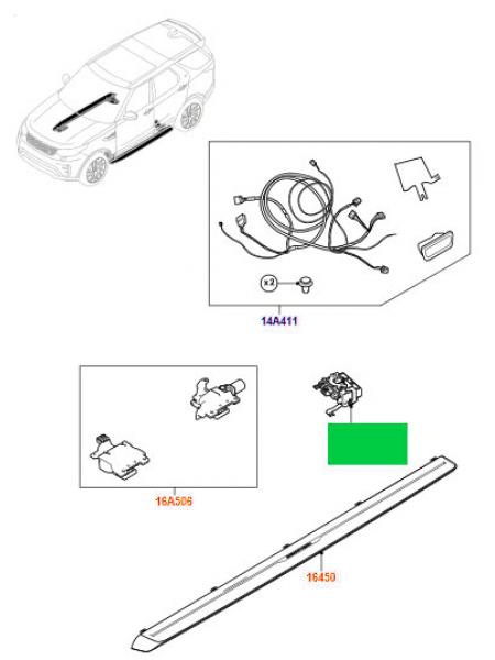 Модуль управления внешними подножками с электроприводом раскрывания для Land Rover Discovery 5 2017