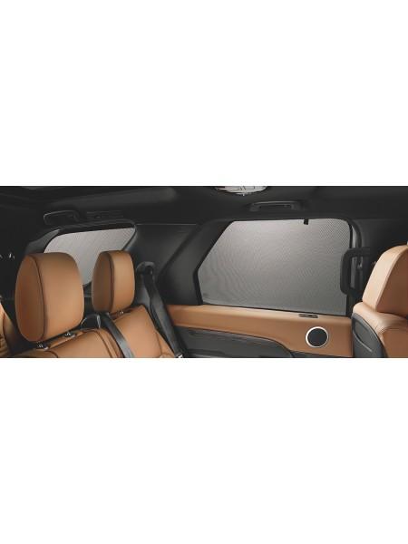 Комплект солнцезащитных шторок для Land Rover Discovery 5 2017 (для задних глухих окон дверей)