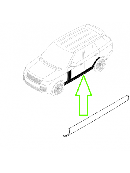 Нижняя LH (левая) накладка порога (молдинг) для Land Rover Discovery 5 2017