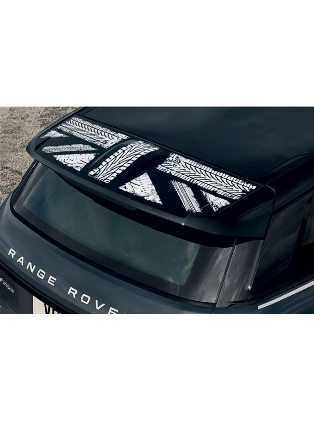 Наклейка графика заднего спойлера Union Jack Monochrome для Range Rover  Evoque
