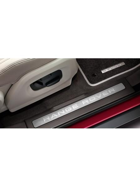 Накладки на пороги из нержавеющей стали с отделкой Bright, цвет Espresso для Range Rover Evoque