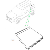 Заднее боковое левое стекло для Range Rover Evoque 2015