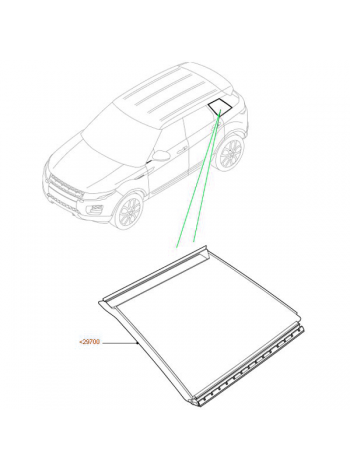 Заднее боковое правое стекло для Range Rover Evoque 2015