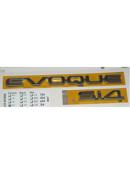 Табличка EVOQUE sd-4 для Range Rover Evoque 2015