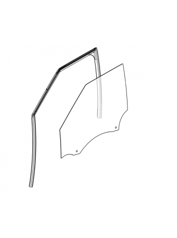 Боковое правое переднее стекло для Range Rover Evoque 2015