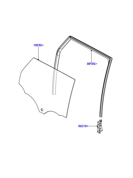 Боковое заднее правое стекло для Range Rover Evoque 2015