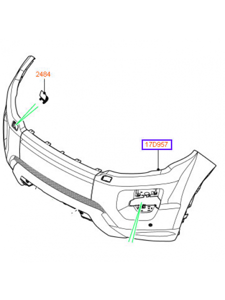 Передний бампер Sport, Dynamic для Range Rover Evoque 2015