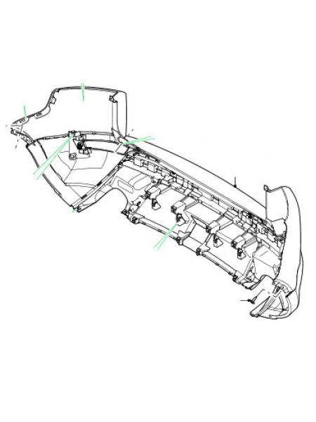 Задний бампер для Range Rover Evoque 2015