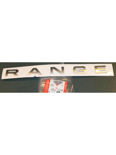 Надпись RANGE на багажную дверь для Range Rover Evoque 2015