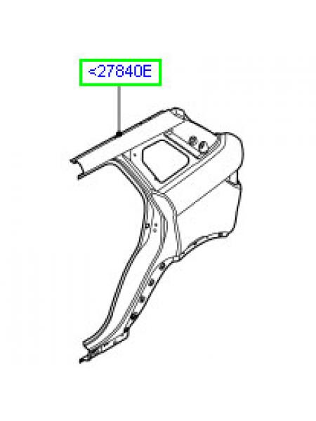 Задняя правая боковая панель кузова для Range Rover Evoque 2015