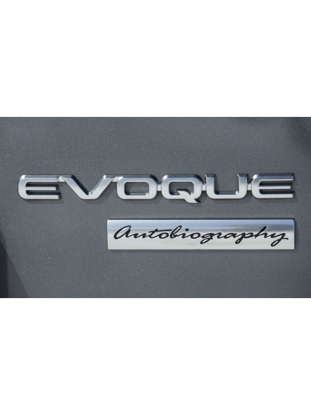 Задняя эмблема Evoque Silver для Range Rover Evoque 2015