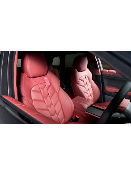 Кожаный салон (передние и задние сиденья) узор елочка от Kahn Design для Range Rover Evoque