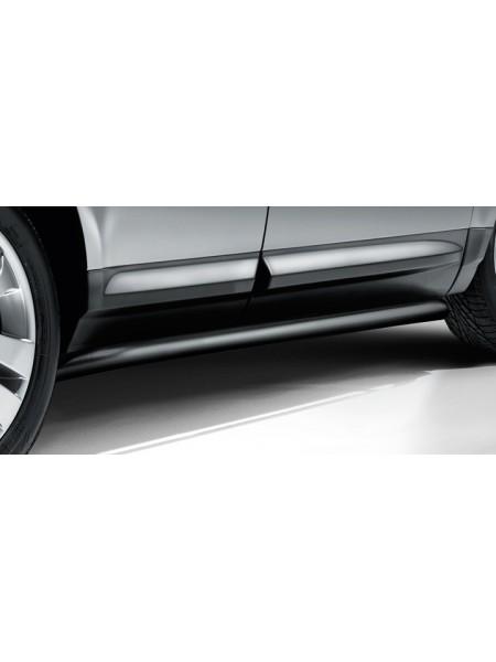 Боковая ступень нержавеющая сталь, Black для Land Rover Freelander 1