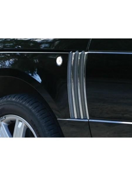 Боковые решетки  с отделкой Bright для Range Rover 2010-2012