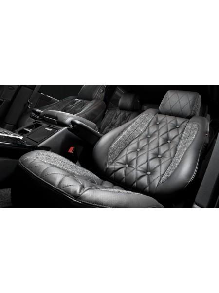 Кожаный салон Harris Tweed (передние и задние сиденья) от Kahn Design для Range Rover L405