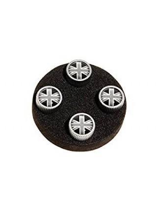 Комплект колпачков на  вентиль Black Jack Design для Land Rover Discovery Sport 2015