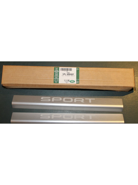 Комплект декоративных накладок Sport на передние пороги дверей для Range Rover Sport L494
