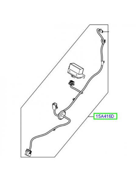 Электропроводка буксировочного крюка для Range Rover L405 (с электроприводом раскрывания)