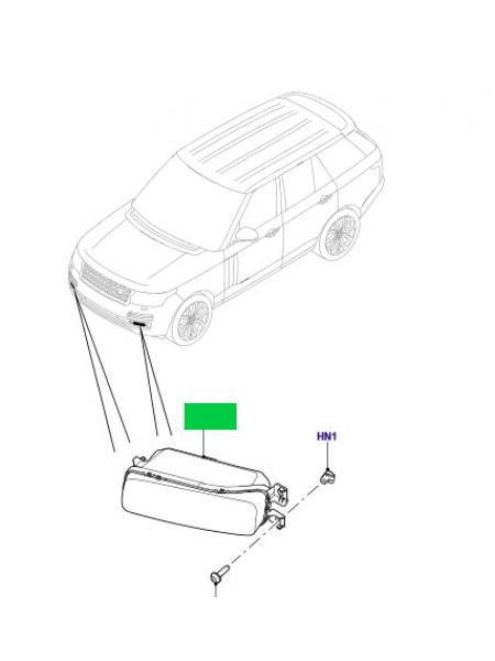 Левая противотуманная фара для Range Rover L405