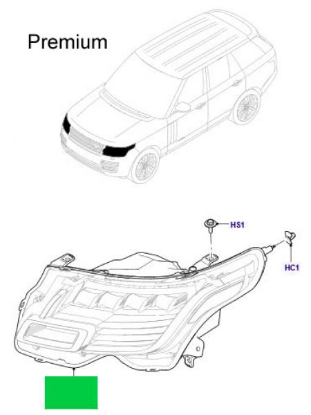 Левая светодиодная фара Premium для Range Rover L405
