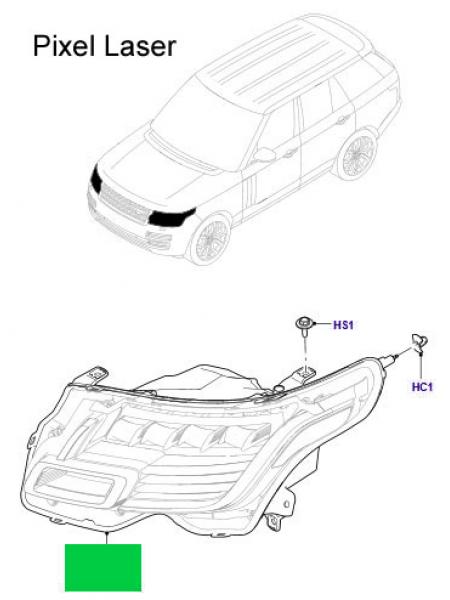 Левая светодиодная фара Pixel Laser для Range Rover L405