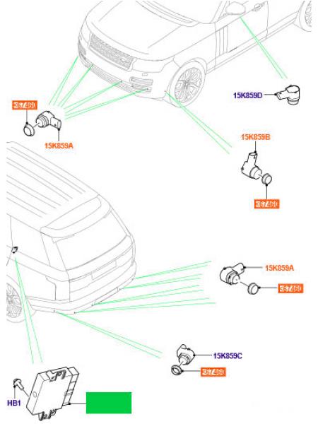 Модуль парктроников для Range Rover L405
