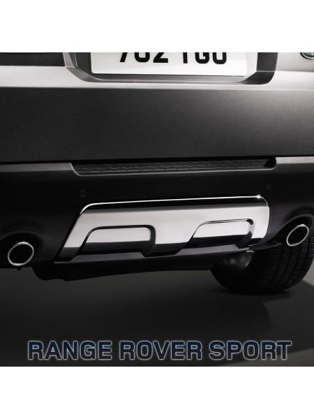 Декоративная накладка заднего бампера (под буксировочную балку) для Range Rover Sport L494