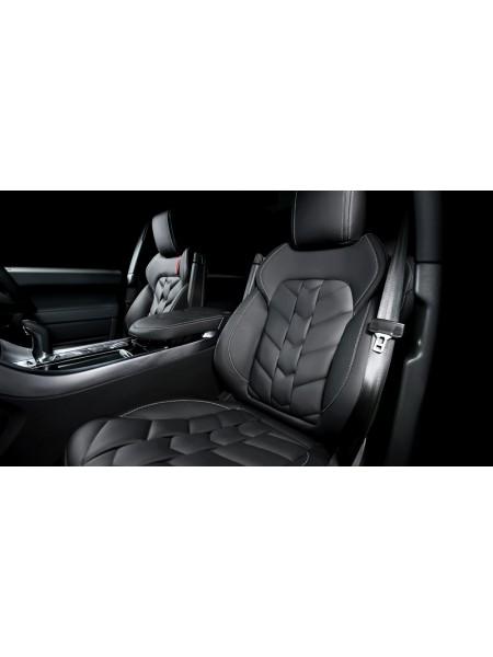 Кожаный салон (передние и задние сиденья) отделка елочка от Kahn Design для Range Rover Sport 2010-2013