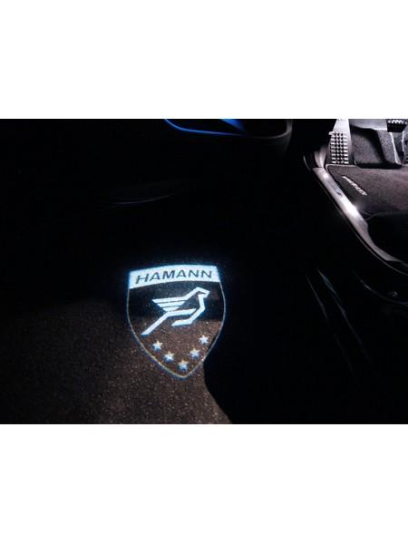 HAMANN logo LED иллюминация на дверь для Range Rover Sport