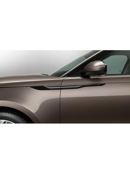 Боковые вентиляционные решетки из карбона с отделкой High Gloss для Range Rover Velar